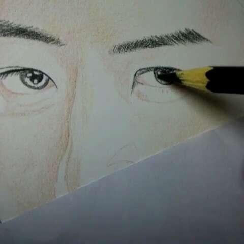 我要上热门##李易峰##彩色铅笔画# - 吼也的美拍