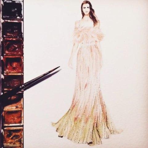 服装设计图片手绘实拍展示