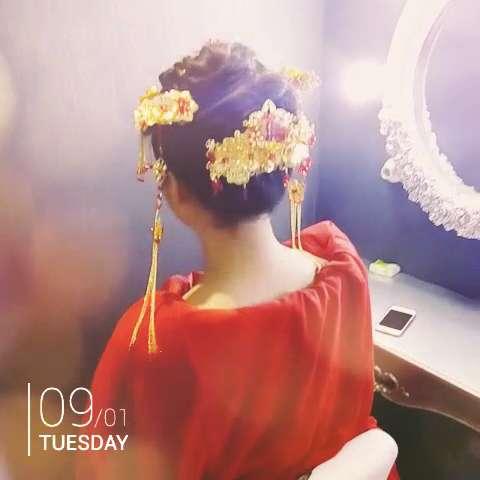 中式发型图片