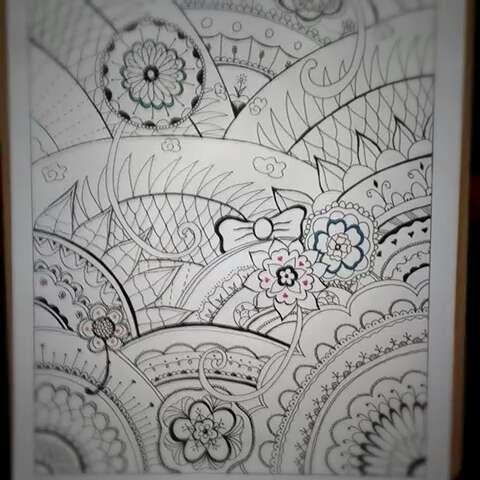 创意简笔画##秘密花园#终于完工了!看不懂看不懂
