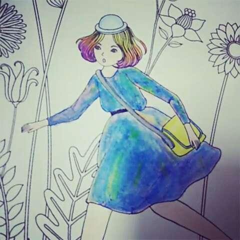奇幻梦境手绘涂色本#水溶性彩铅最好用啦!