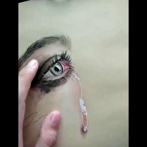 眼睛##手绘彩铅画##我爱画画