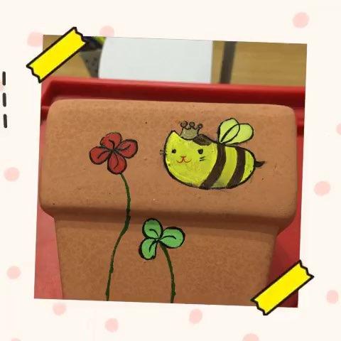 手绘小花盆