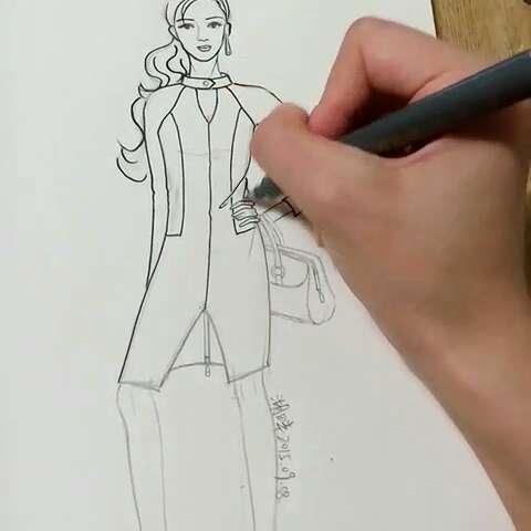 一分钟手绘大赛#我爱服装设计,我爱美衣,我爱手绘今天来一个性感职业