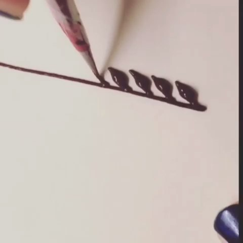 印度海娜手绘##曼海蒂##henna##我要上热门#海娜手绘基础叶子绘画教学