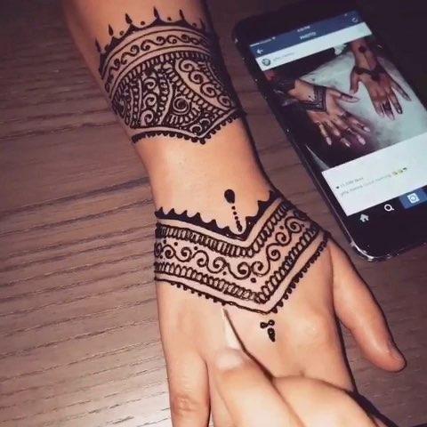印度海娜手绘##曼海蒂##手绘曼海蒂##时尚曼海蒂##我要上热门