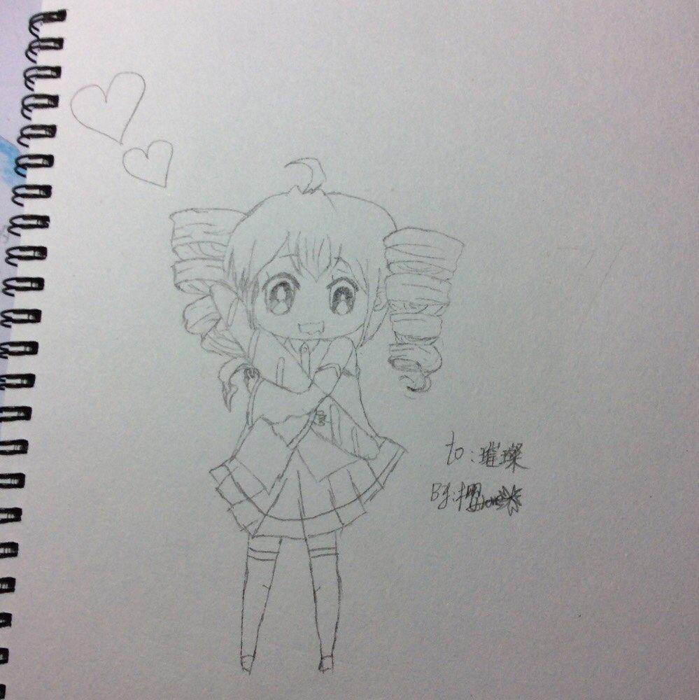 铅笔手绘闺蜜背影图片