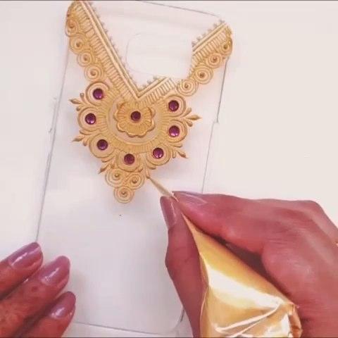 印度海娜手绘##我要上热门##时尚美妆##曼海蒂##henna#手绘手机壳