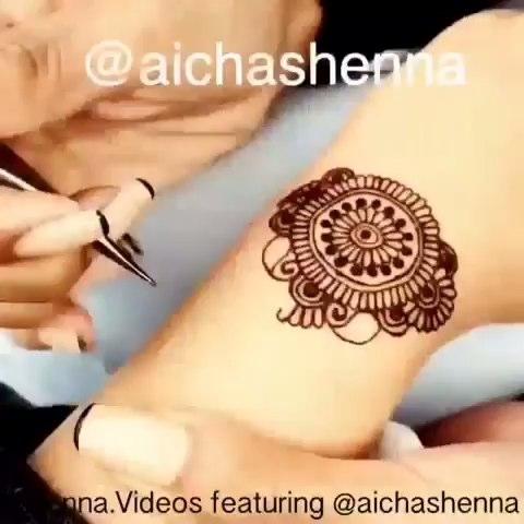 henna##印度海娜手绘##汉娜手绘##曼海蒂#手绘教程
