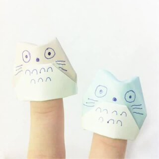 萌爆的龙猫手指套