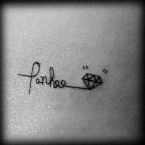 半永久小纹身加图案后缀