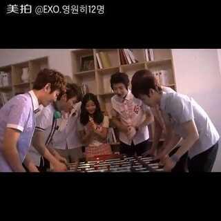 #EXO##最帅班草大赛#EXO-K金有贞广告拍摄花絮part3