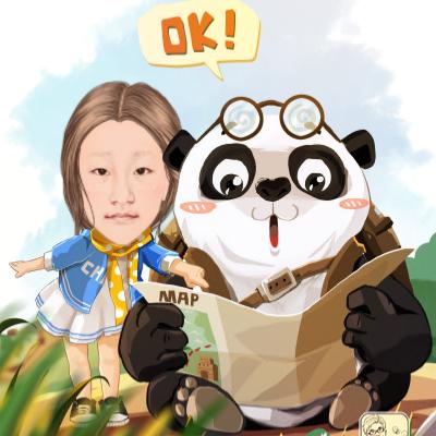 黑眼圈的熊猫先生,请你在地球上别迷路了#美拍表情文图片