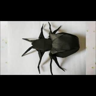 蜘蛛#万圣节#要来啦 两张纸一样大小 正方形 折完拿给小侄子把他吓哭了 罪过罪过😢 #涨姿势#微信2242396133