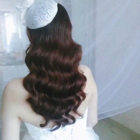 水波纹,最适合长头发的姑娘了图片