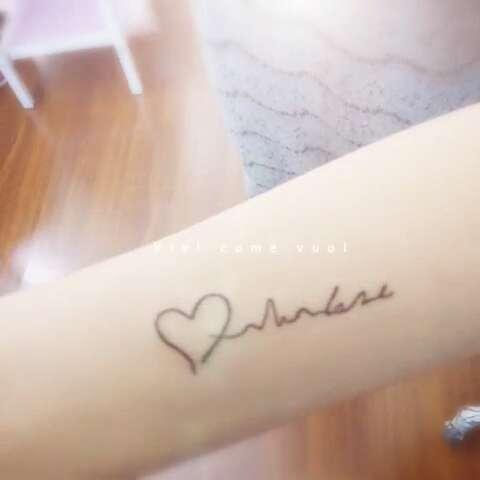 美女的半永久小纹身