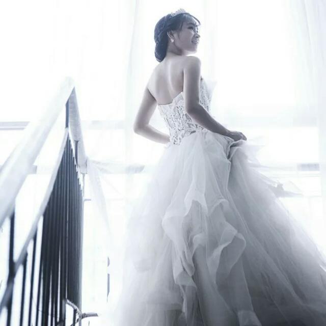 欧式婚纱背影图片