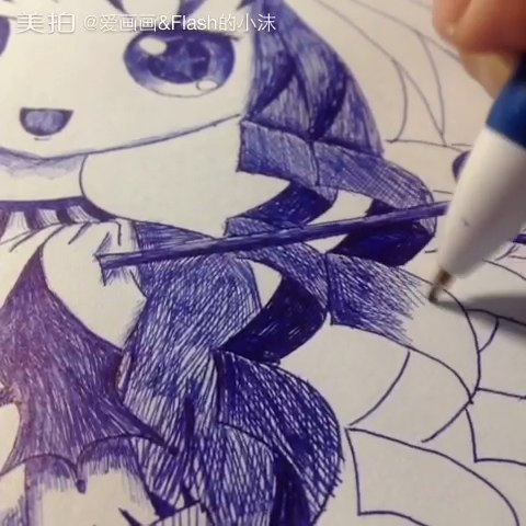 第一次的#圆珠笔手绘#到底很次