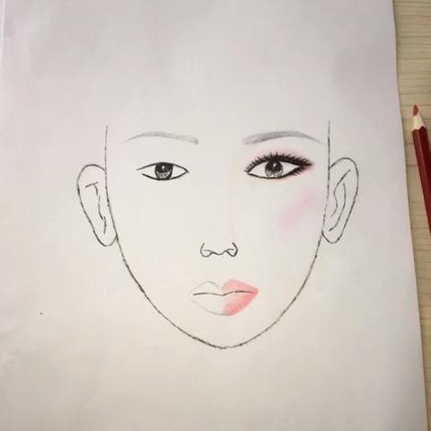 铅笔手绘美人图#没有学过绘画,画着玩,不喜勿喷.
