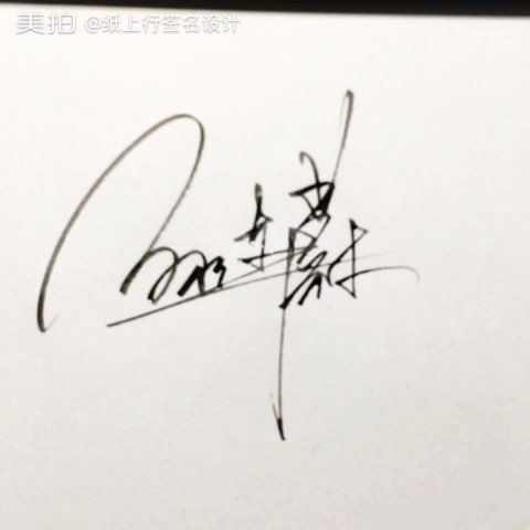 纸上行艺术签名设计#95加微信支付设计哦