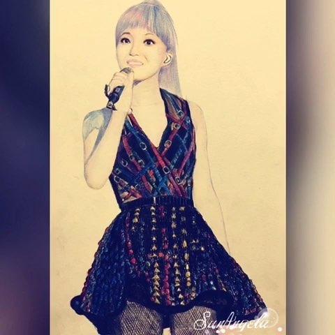 我爱画画##彩铅手绘##张韶涵2015纯粹成都演唱会#女神美美哒