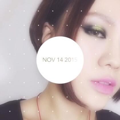 眼影:NYX AVANT POP 10 color shadow palette 01 唇膏:COLOURPOP ultra matte lip 1ST BASE