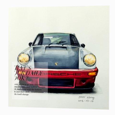 手绘##手绘彩铅画##汽车手绘##马克笔手绘#个人以前画的一些作品