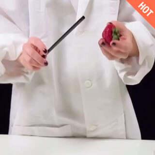 吃草莓小技巧<span class=