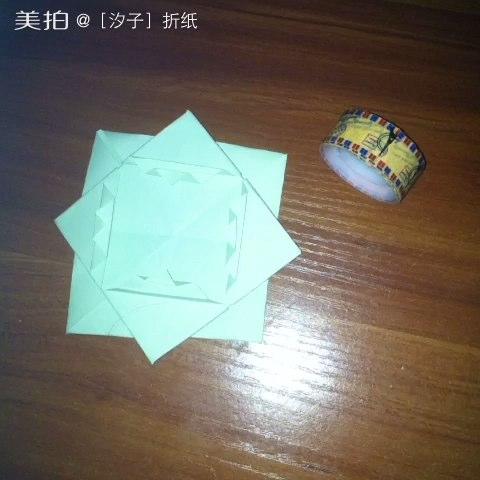 折纸教程##实用折纸##创意折纸#纹格相框 一张正方形纸 汐子手作 点