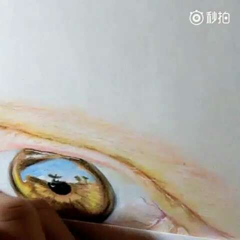 周末##60秒美拍##微笑##画画##手绘彩铅画##随手画画##水溶彩铅