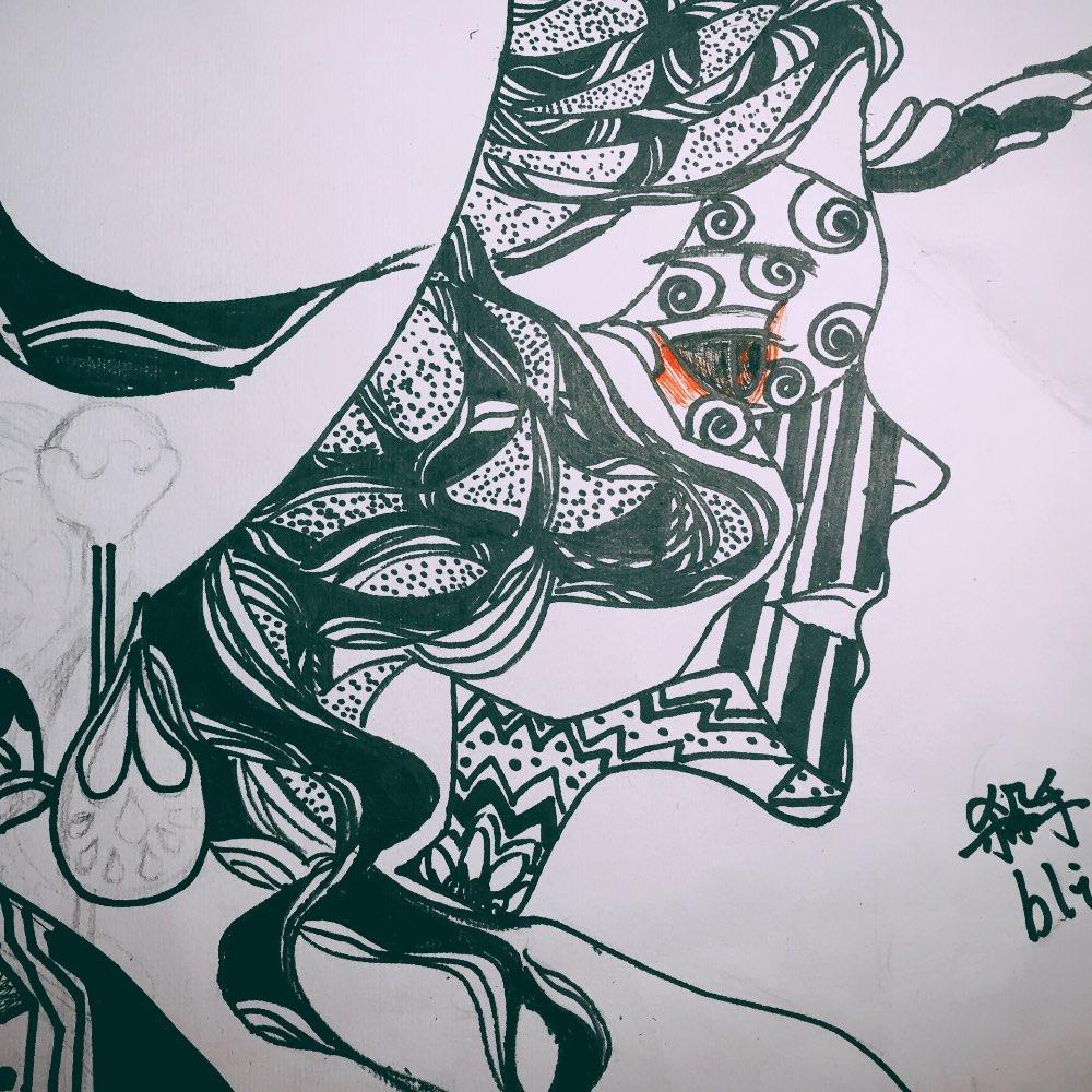创意霸气黑白装饰画