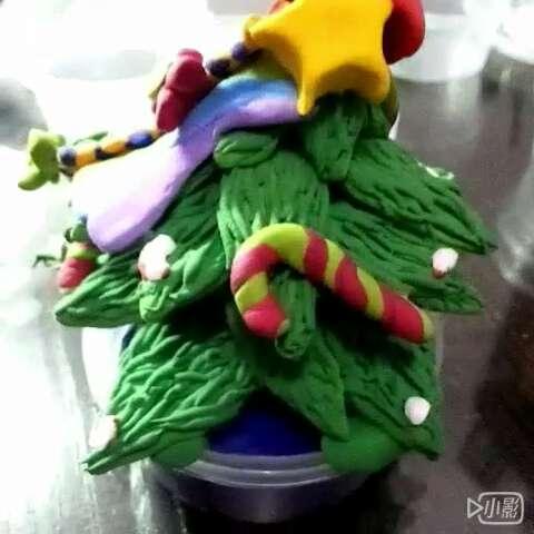 圣诞树#圣诞树##粘土手工