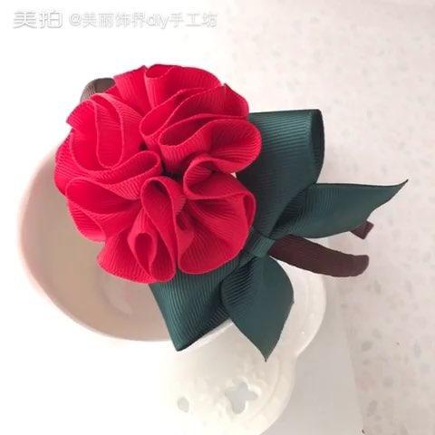 花球发箍#手工diy发饰#创意#美妆时尚#涨姿势#我要上