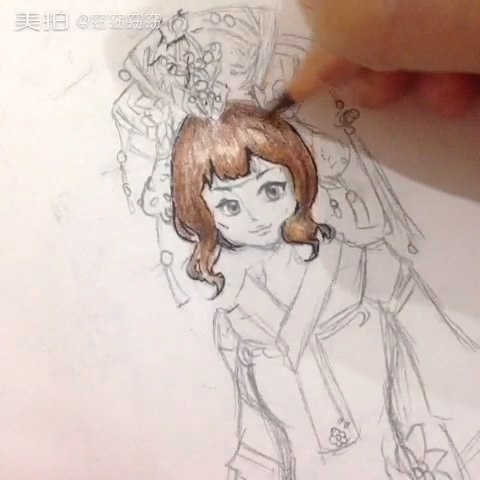 试试手#手绘彩铅画##爱上彩铅