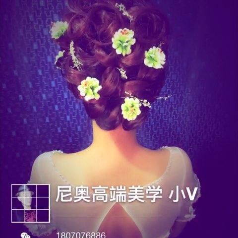 美妆时尚##随手美拍##新娘发型教程# 今天的课件