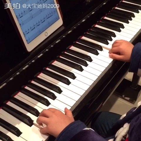 圣诞节#18课时后,自学简单谱#钢琴#铃儿响叮当#音乐图片