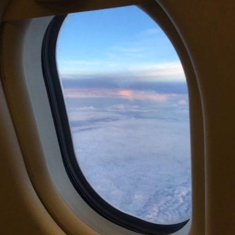 日落晚霞##不一样的日落##飞机上的美拍##飞机上看风景##直播坐飞机