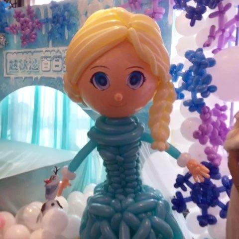 冰雪奇缘主题宝宝宴#由创意气球总店出品