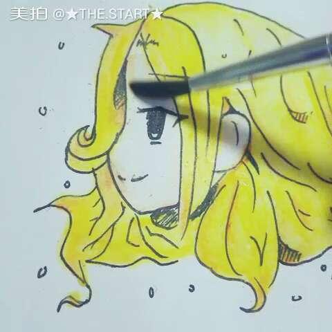 微笑##手绘画##彩铅手绘画##我的绘画##手绘漫画#@白羊座-girl@二月