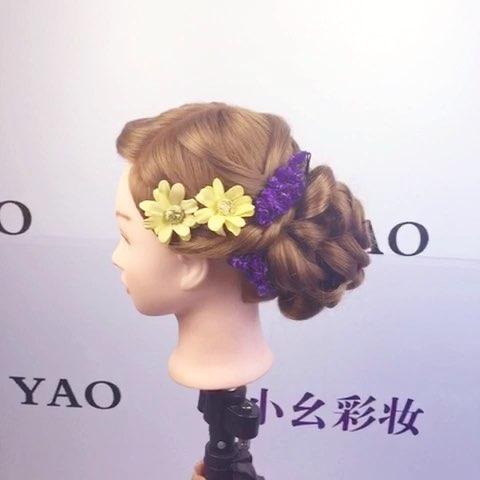 我要上热门##新娘造型##新娘发型##韩式发型##韩式花苞头