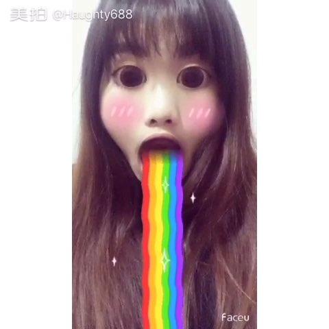 faceu##吃彩虹##大眼睛##大嘴巴