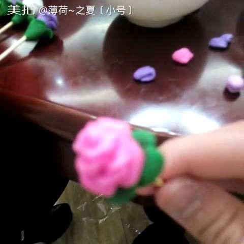 超轻粘土手工大赛##超轻粘土花朵制作