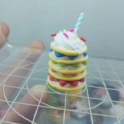 千层彩虹蛋糕#美食##我要上热门##超轻粘土##全民吐彩虹##彩虹蛋糕图片