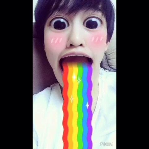 【namely-loveu美拍】#faceu##全民口吐彩虹图片