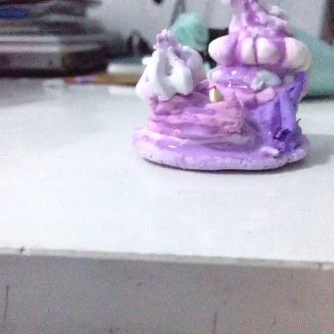 原创水果拼盘蛋糕#kitty粘土群作业#原仿艾特@kitty~小清新
