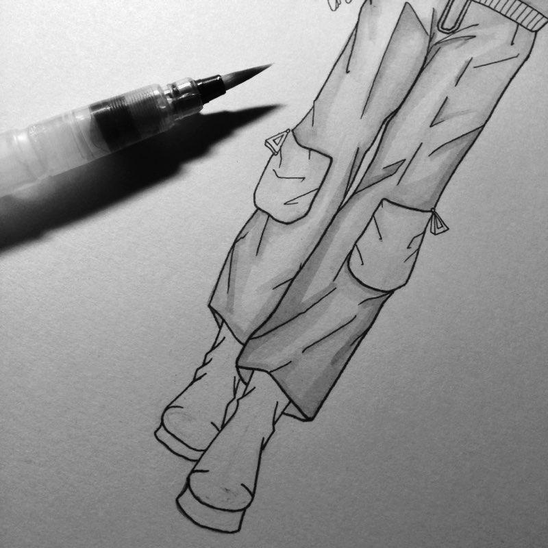 马克笔##我的手绘插画##原创插画##手绘时装画教程##马克笔时装画##彩