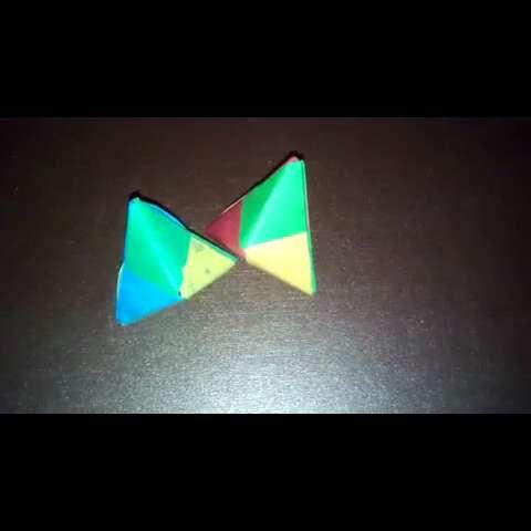 立体三角形折纸