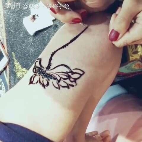 印度海娜手绘##西安印度海娜手绘纹身#99美女大臂