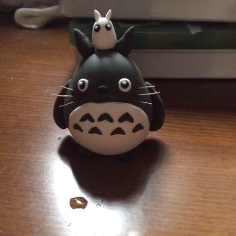 超轻粘土#一只丑乎乎的龙猫图片