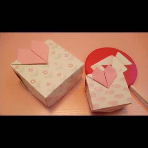 情人节#爱心盒子#涨姿势# 尺寸正方形的就可以 盒盖要比盒身大1cm